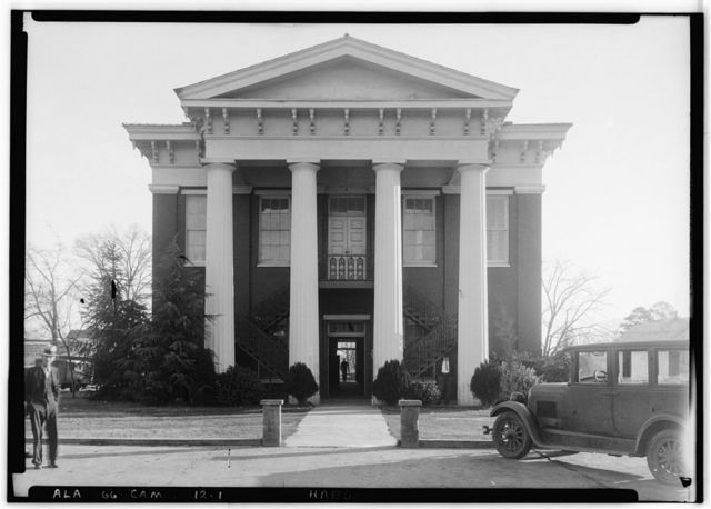 Wilcox County Courthouse, Broad, Claiborne, Court & Water Streets, Camden, Wilcox County, AL