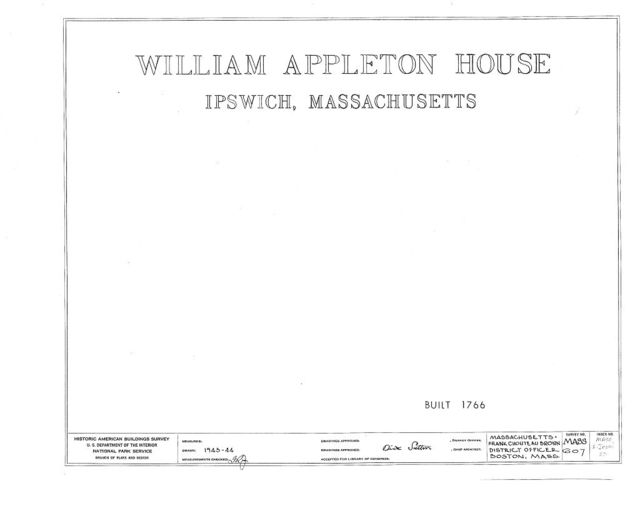 William Appleton House, Ipswich, Essex County, MA