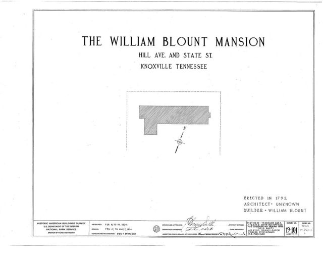 William Blount Mansion, State Street & Hill Avenue, Knoxville, Knox County, TN