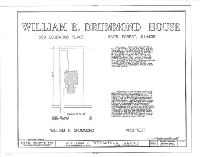 William E. Drummond House, 559 Edgewood Place, River Forest, Cook County, IL