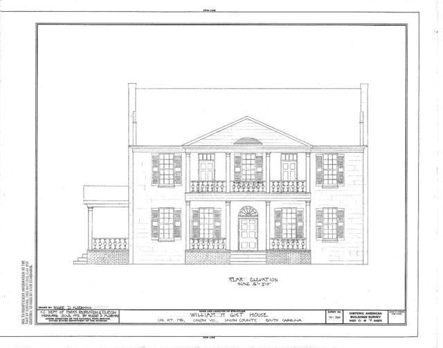 William H. Gist House, U.S. Route 176, Union, Union County, SC