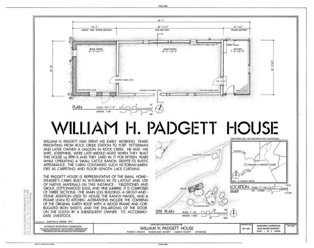 William H. Padgett House, Flying X Ranch, Wheatland, Platte County, WY
