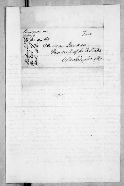 William Hardin to Andrew Jackson