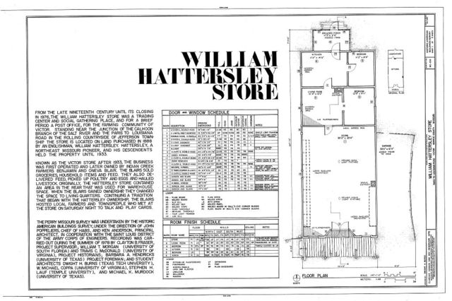 William Hattersley Store, Paris-to-Louisiana Road vicinity (State Route 154), Victor, Monroe County, MO