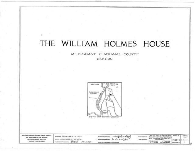 William Holmes House, Mount Pleasant, Clackamas County, OR