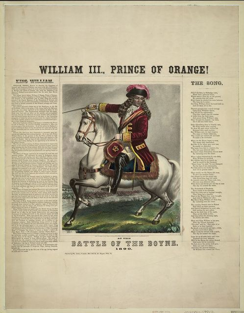 William III., Prince of Orange! At the battle of the Boyne. 1690
