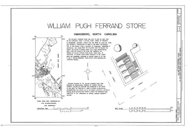 William Pugh Ferrand Store, 122 Front Street, Swansboro, Onslow County, NC