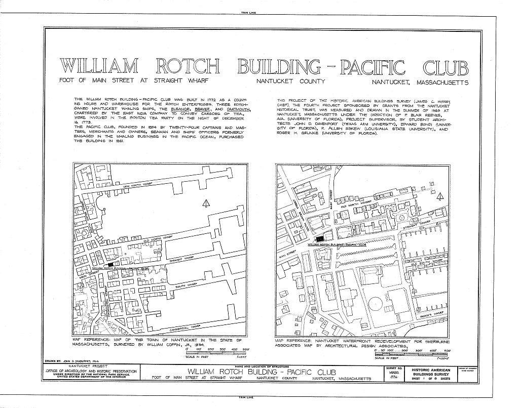 William Rotch Warehouse, Main & South Water Streets, Nantucket, Nantucket County, MA