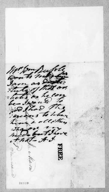 William Russel to Andrew Jackson