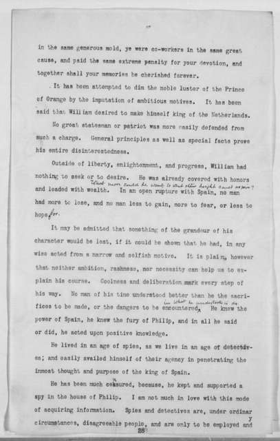 """William the Silent"" - Folder 1 of 7"