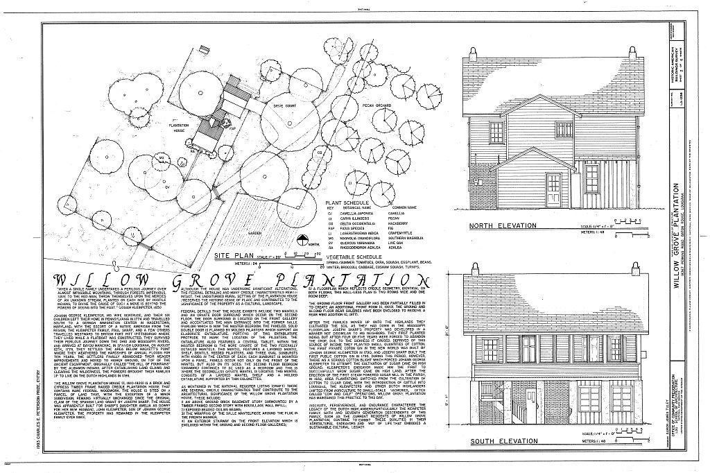 Willow Grove Plantation, 11421 Perkins Road (changed from 18367 Perkins Road), Baton Rouge, East Baton Rouge Parish, LA