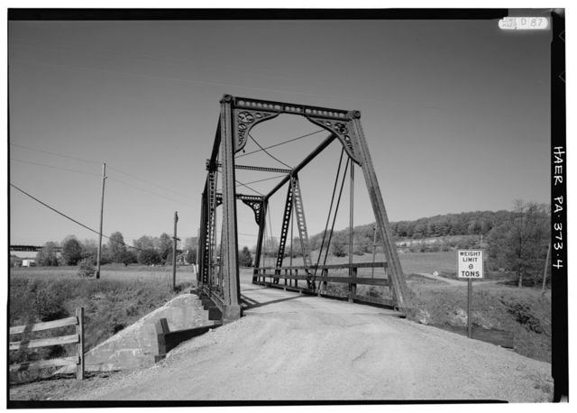 Wills Creek Bollman Bridge, Spanning CSX tracks at T381, Meyersdale, Somerset County, PA