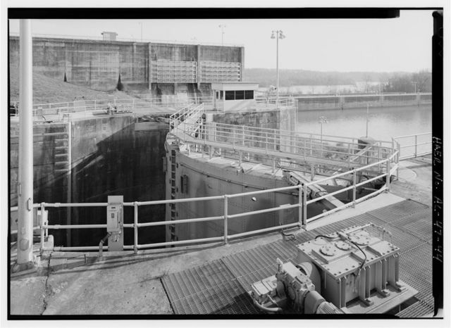 Wilson Dam & Hydroelectric Plant, Spanning Tennessee River at Wilson Dam Road (Route 133), Muscle Shoals, Colbert County, AL