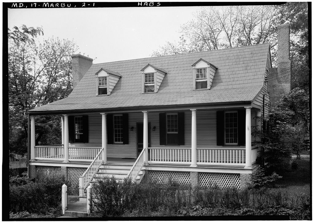 Wilson House, (moved to Lower Marlboro, Calvert County), Upper Marlboro, Prince George's County, MD