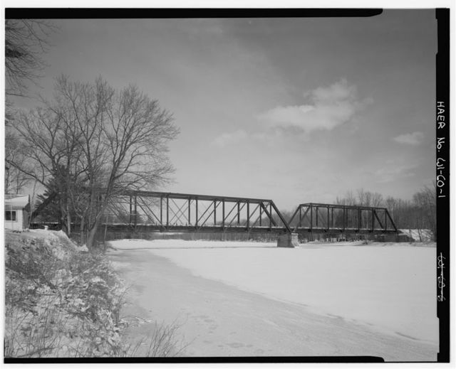 "Wisconsin-Michigan Railroad Bridge, Spanning Menominee River, on County Trunk Highway ""JJ"", Wagner, Marinette County, WI"