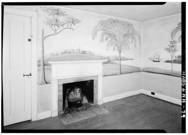 Wittenborn-Wagner House, Rufus Porter Wall Paintings, River Road, Lyme, Grafton County, NH