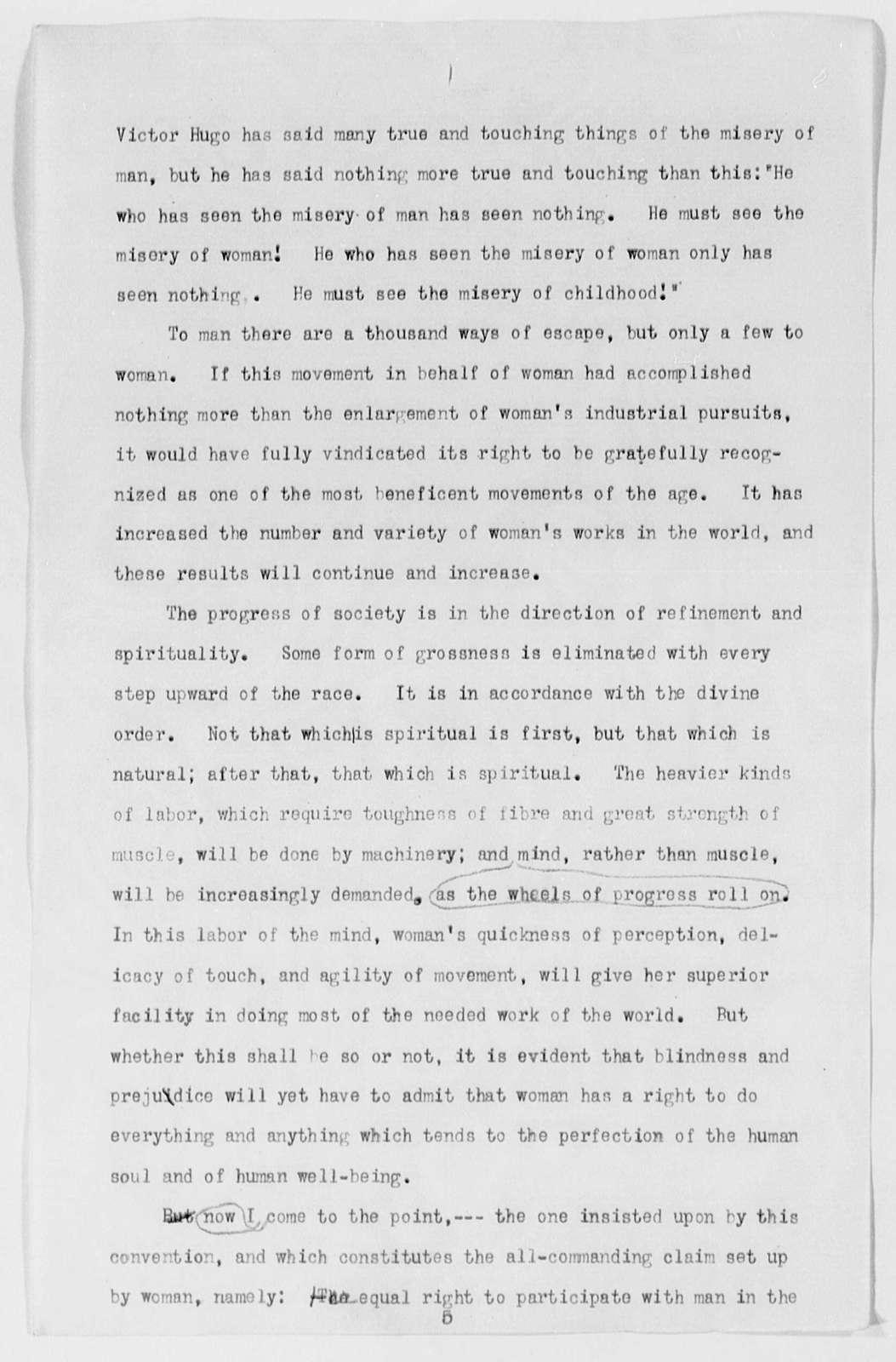 """""""Woman Suffrage,"""" Boston, Mass. - Folder 1 of 2"""