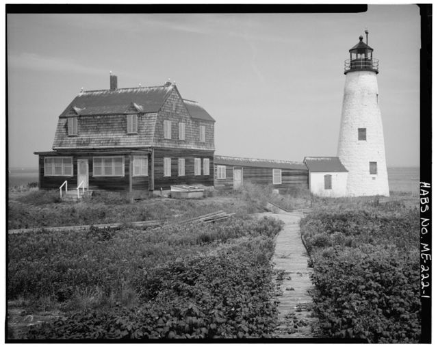 Wood Island Light Station, East end of Wood Island, at mouth of Soo River, Biddeford Pool, York County, ME