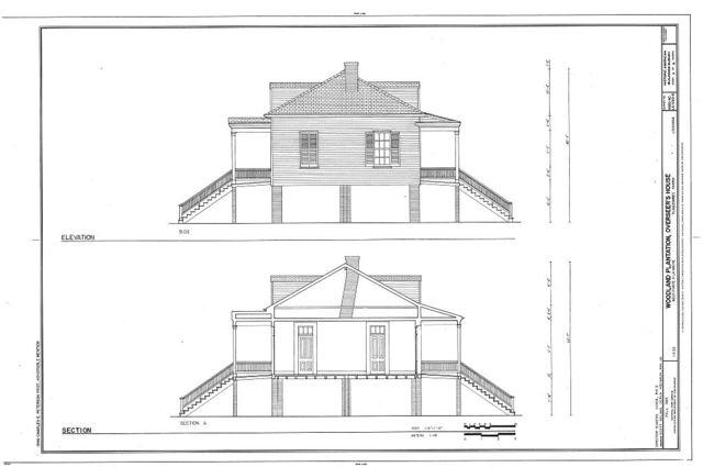 Woodland Plantation, Overseer's House, State Route 23, West Pointe A La Hache, Plaquemines Parish, LA