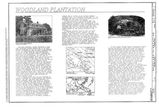 Woodland Plantation, State Route 23, West Pointe A La Hache, Plaquemines Parish, LA