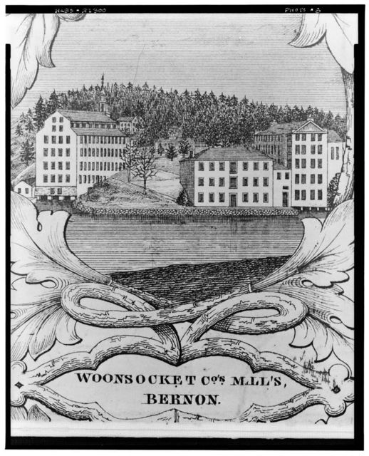 Woonsocket Company, Number 1 Mill, 100 Front Street, Woonsocket, Providence County, RI