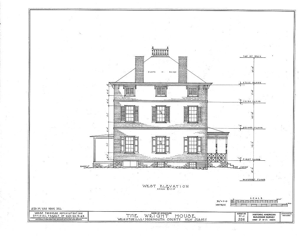 Wright House, Old Shrewsbury Road, Wrightsville, Monmouth County, NJ