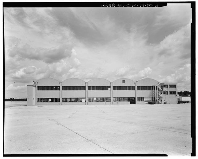 Wright-Patterson Air Force Base, Area B, Building 6, Signal Corps Special Forces Hangar, On flightline at Southeast corner of Eleventh & C Streets, Dayton, Montgomery County, OH
