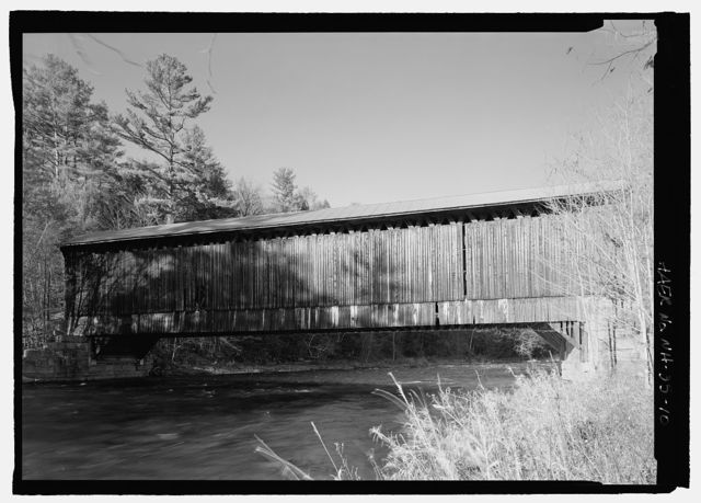 Wright's Bridge, Spanning Sugar River, former Boston & Maine Railroad (originally Concord & Claremont Railroad), Claremont, Sullivan County, NH
