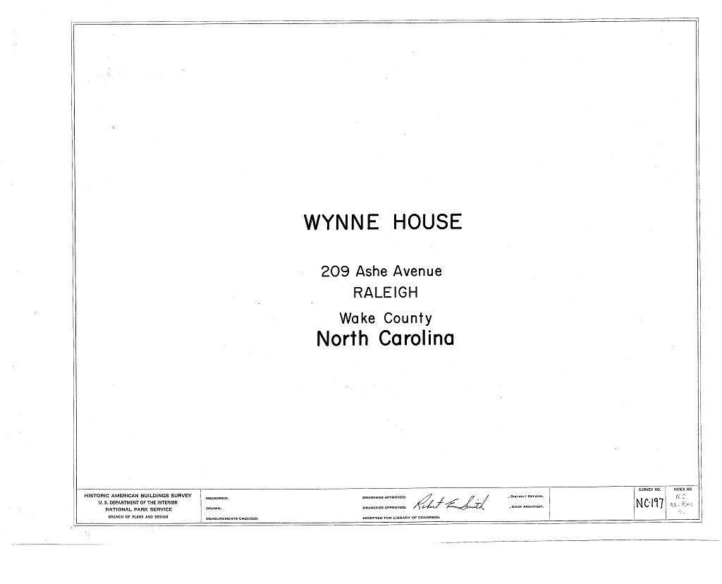 Wynne House, 209 Ashe Avenue, Raleigh, Wake County, NC