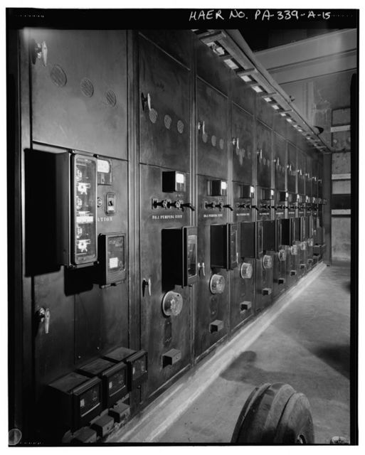 Wyoming Valley Flood Control System, Woodward Pumping Station, East of Toby Creek crossing by Erie-Lackawanna Railroad, Edwardsville, Luzerne County, PA