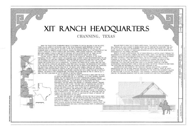 Map Of Xit Ranch Texas.Xit Ranch Headquarters Fifth And West Railroad Avenue Channing