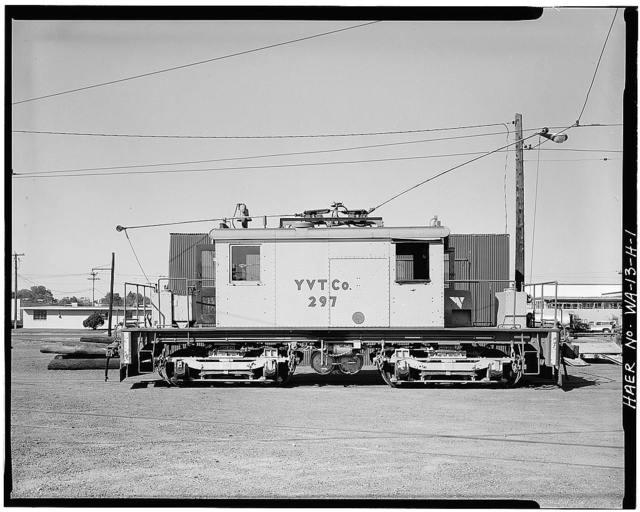 Yakima Valley Transportation Company Interurban Railroad, Electric Locomotive No. 297, Yakima, Yakima County, WA
