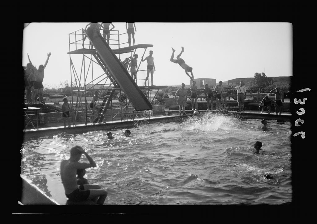 Y.M.C.A. celebration at Beit Nabala on May 21, '44. Pool