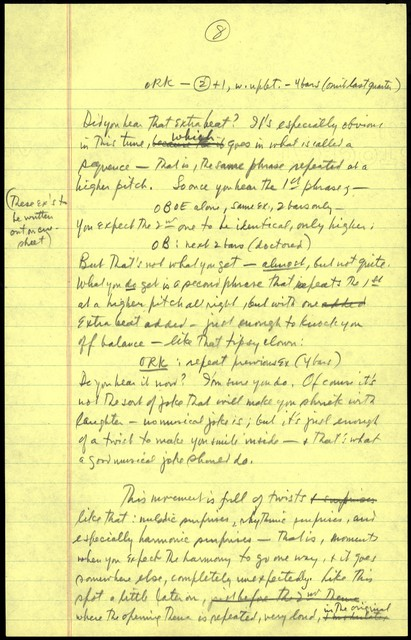 Young People's Concerts Scripts: A Birthday Tribute to Shostakovich [pencil on yellow legal pad paper pad paper]