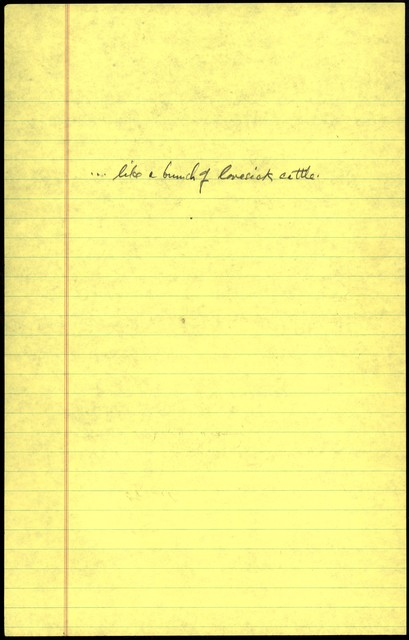 Young People's Concerts Scripts: Berlioz Takes a Trip [pencil on yellow legal pad paper]