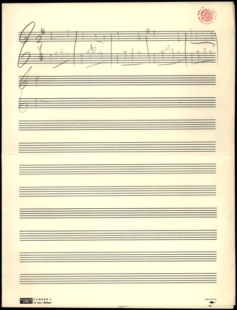 Young People's Concerts Scripts: The Genius of Paul Hindemith [pencil on music paper; [musical example]]