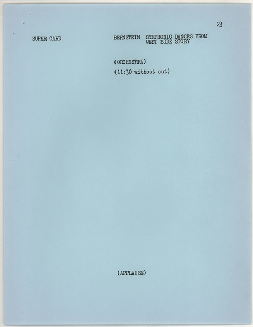 Young People's Concerts Scripts: The Latin American Spirit [typescript on blue paper with emendations in black & blue pencil]