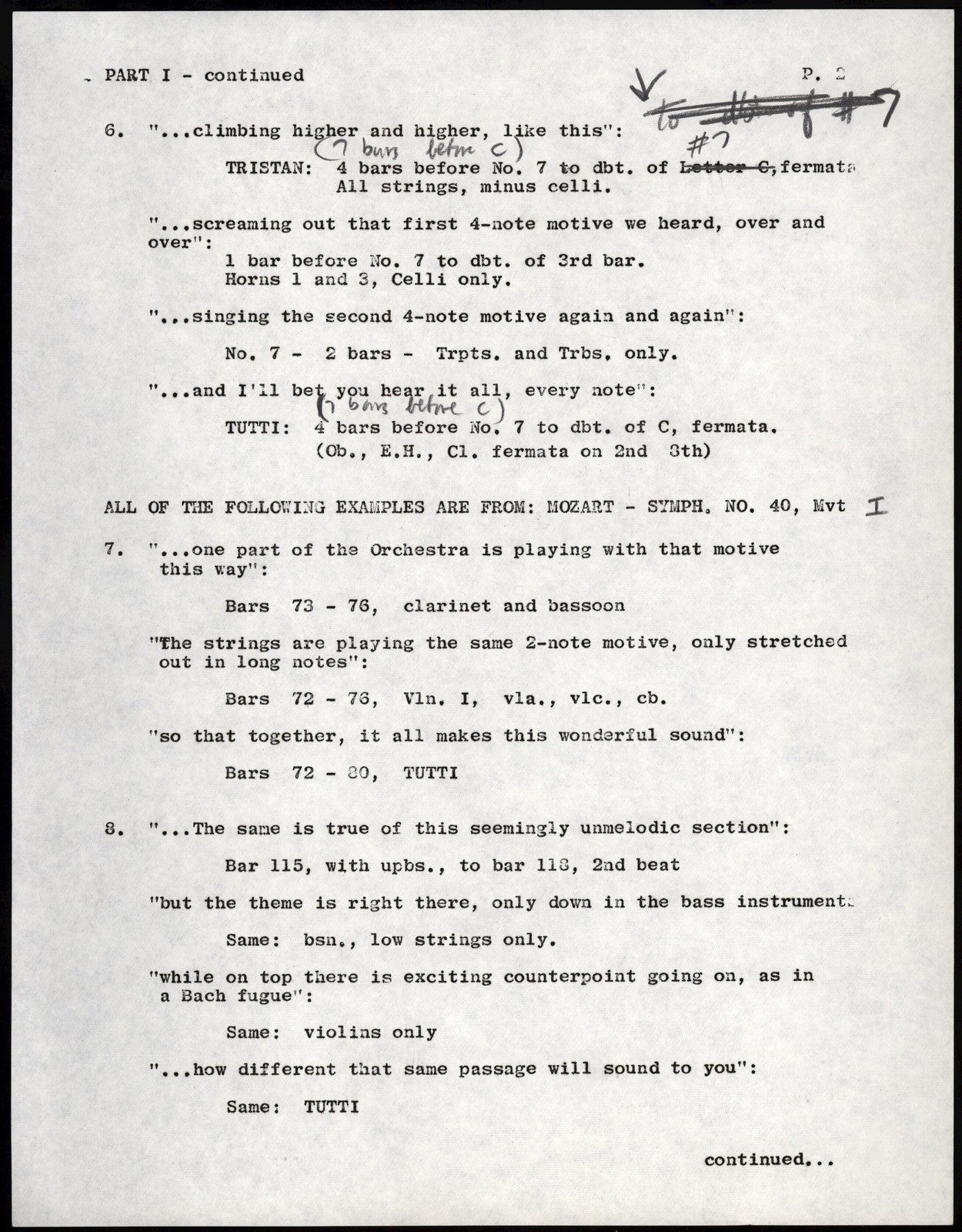 Young People's Concerts Scripts: What is a Melody? (revised) [typescript with emendations in pencil]