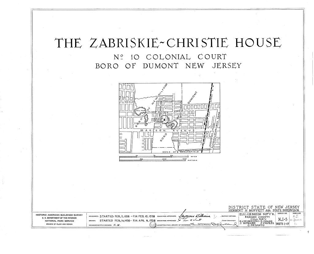 Zabriskie-Christie House, 10 Colonial Court, Dumont, Bergen County, NJ
