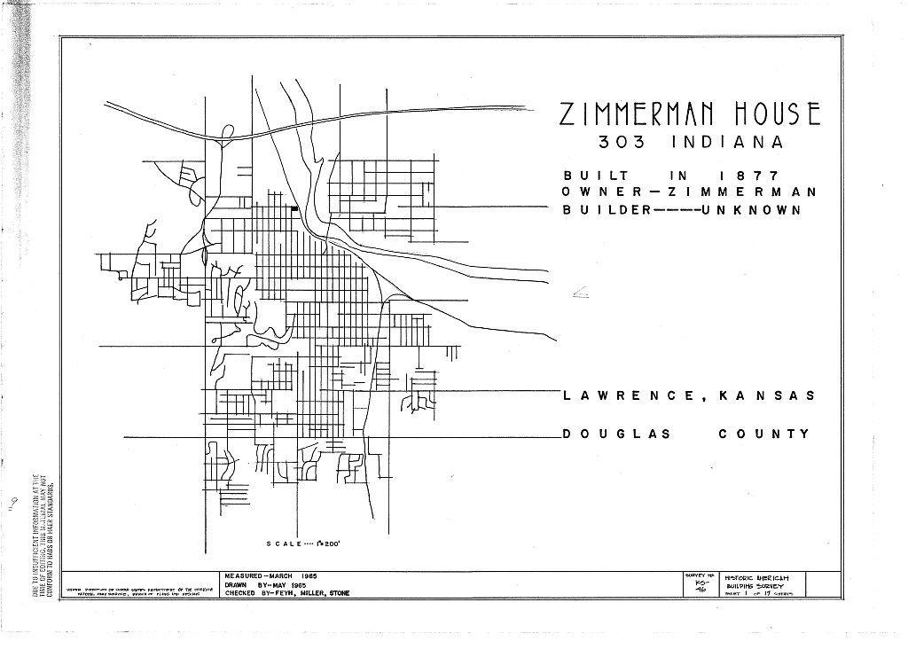 Zimmerman House, 303 Indiana Street, Lawrence, Douglas County, KS