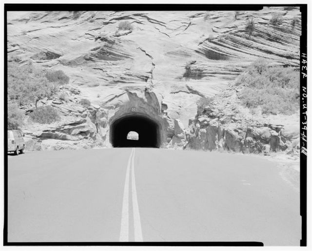 Zion-Mount Carmel Highway, Short Tunnel, Passing through Rock Spur on Zion-Mount Carmel Highway, Springdale, Washington County, UT