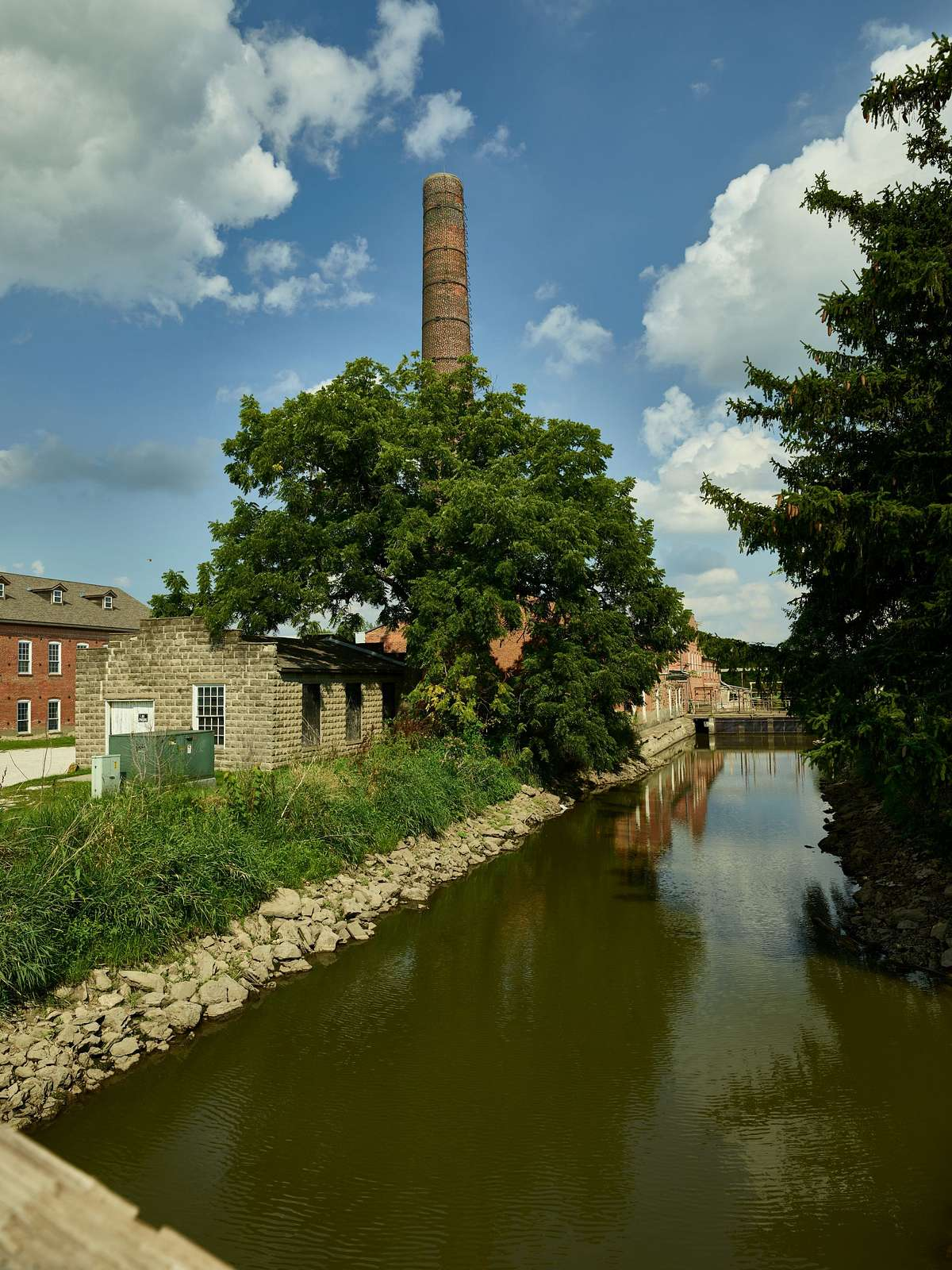 Canal in Amana, one of the Amana Colonies, seven villages in Iowa County, Iowa