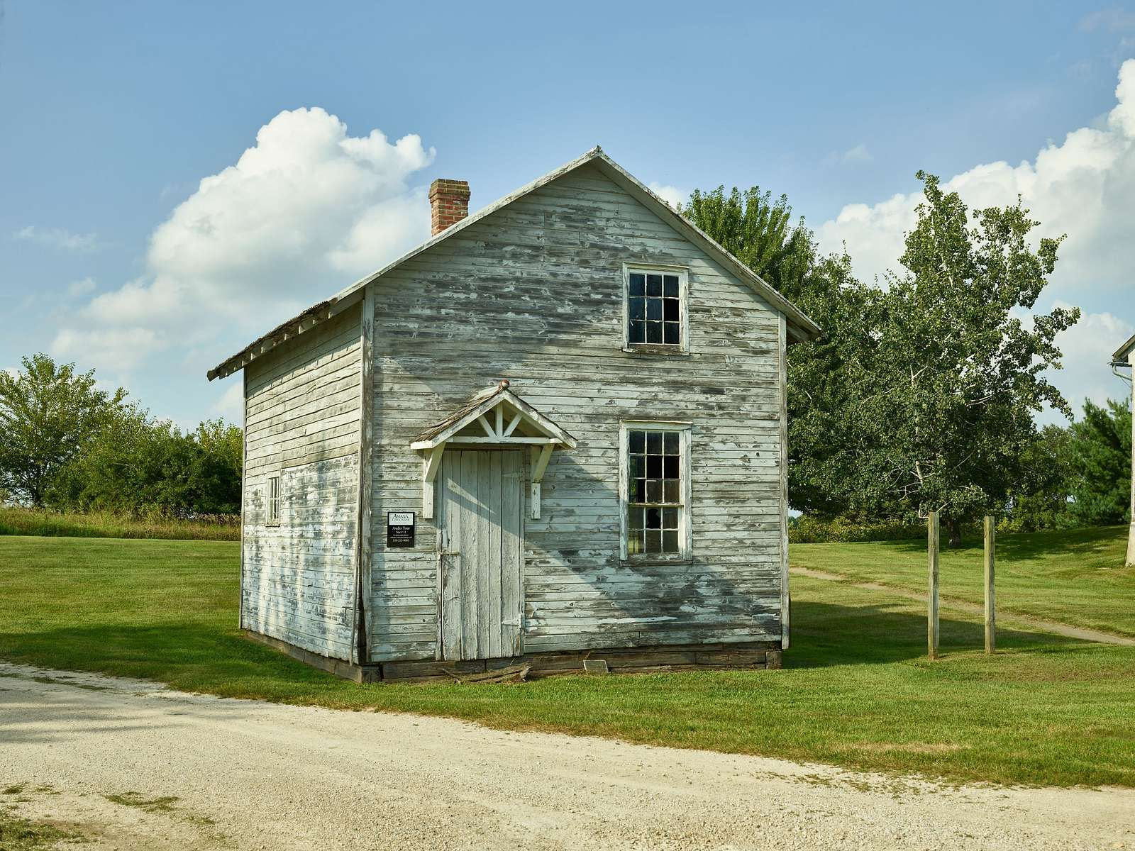 Small storage building in South Amana, one of the Amana Colonies, seven villages in Iowa County, Iowa