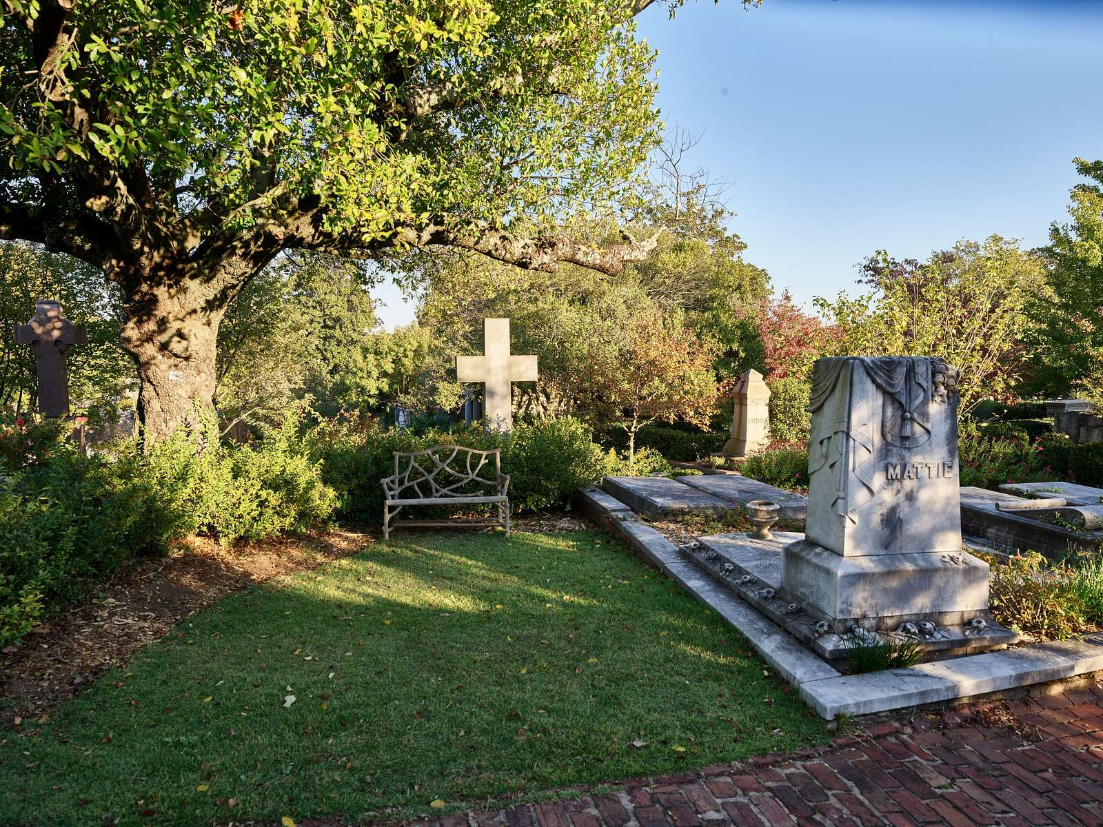 Gravesite at the historic Oakland Cemetery in Atlanta, the capital and largest city in the U.S. state of Georgia
