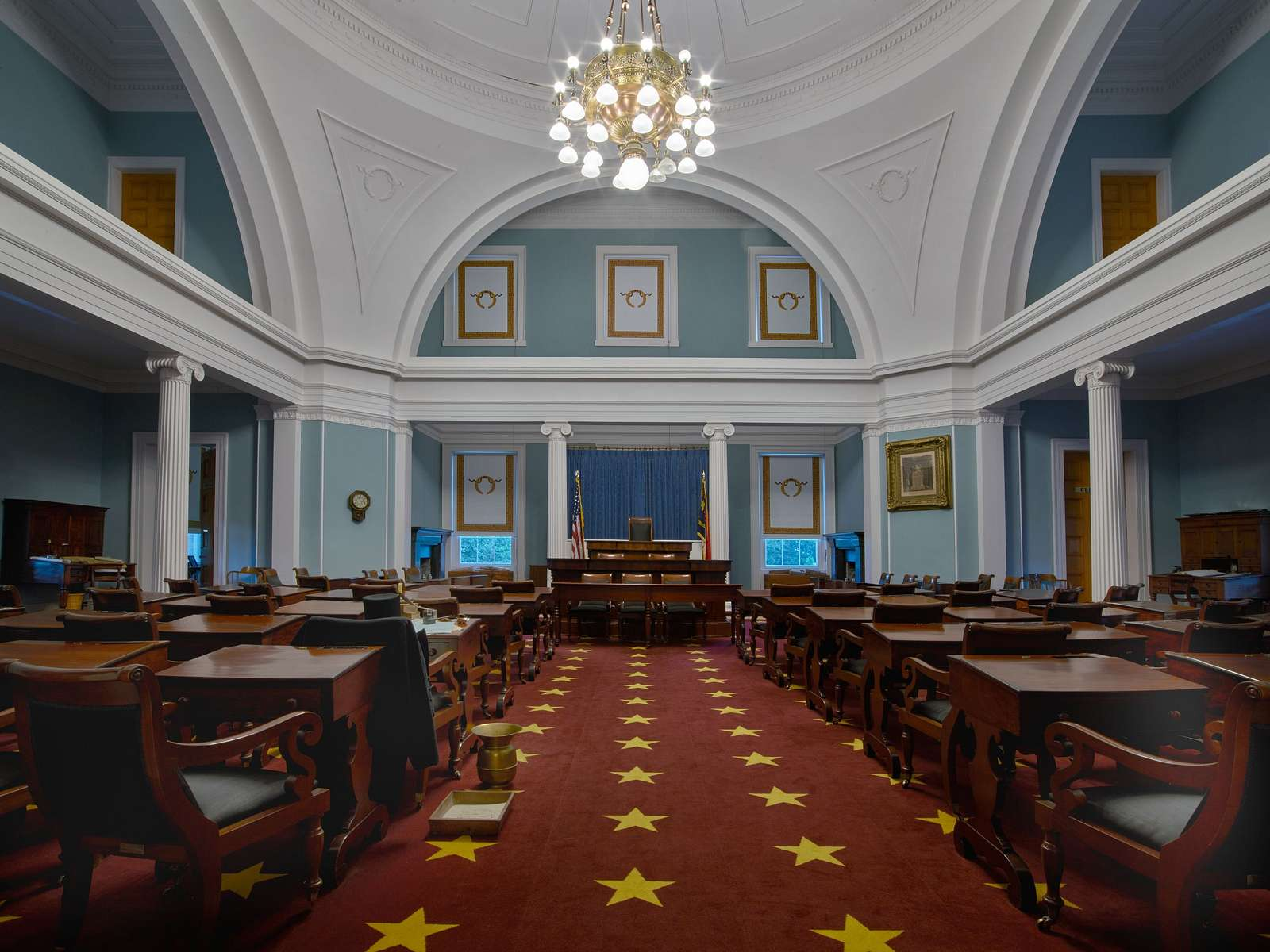 The onetime Senate Chambers in the North Carolina Capitol in Raleigh