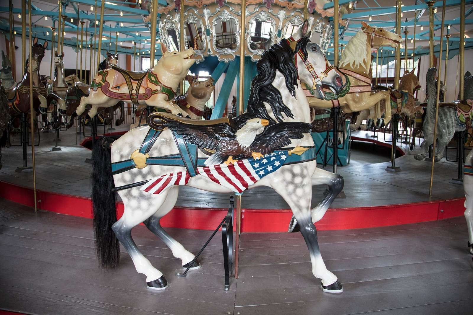 The Pullen Park Carousel in the civic park of the same name in Raleigh, the capital city of North Carolina