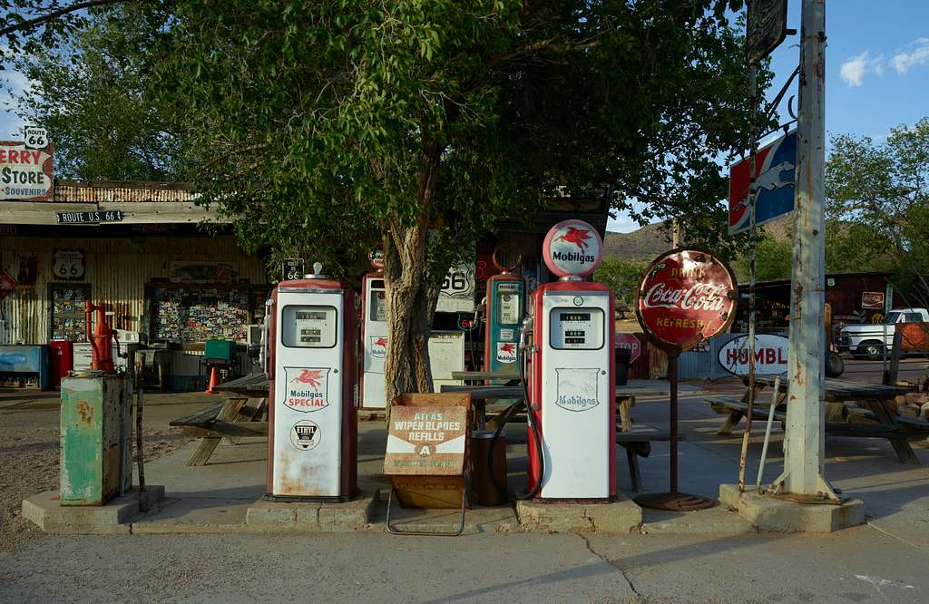 The old Hackberry General Store in the tiny crossroads of Hackberry, along historic U.S. Route 66 in Arizona