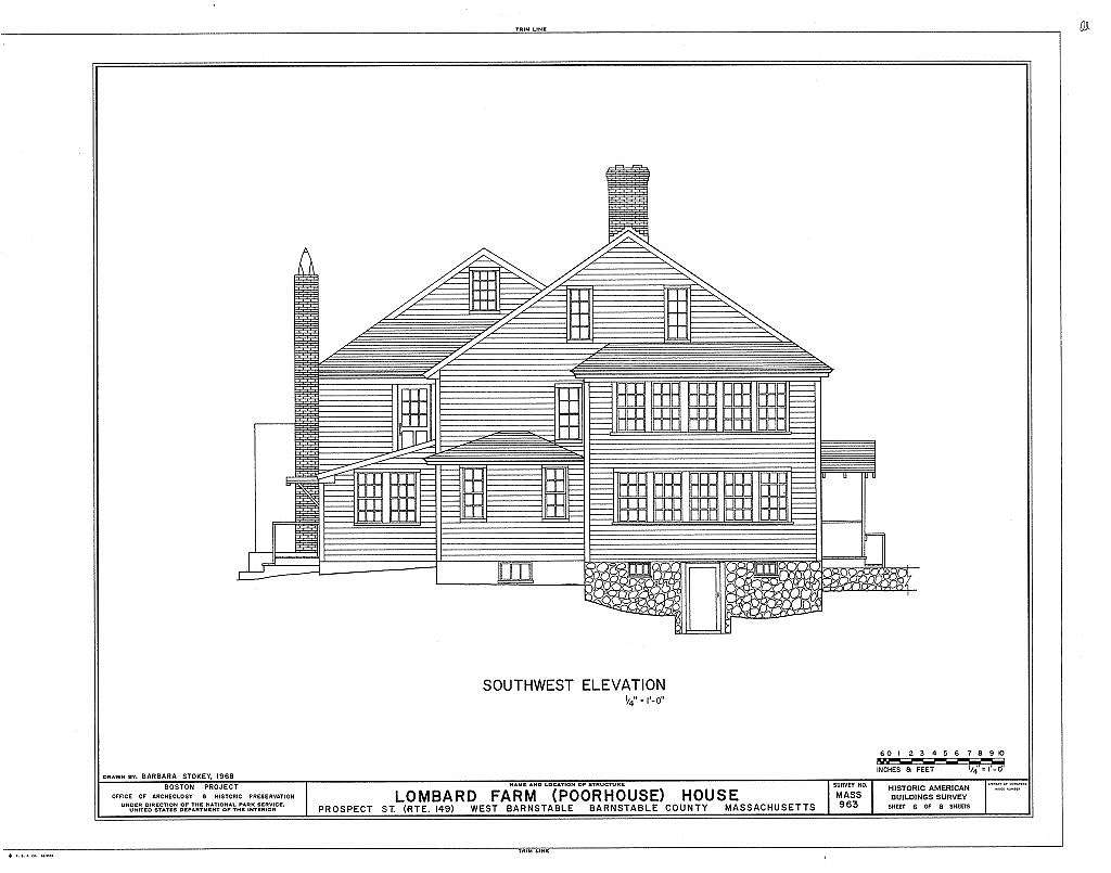 Lombard Farm, House, Prospect Street (State Route 149), Barnstable, Barnstable County, MA
