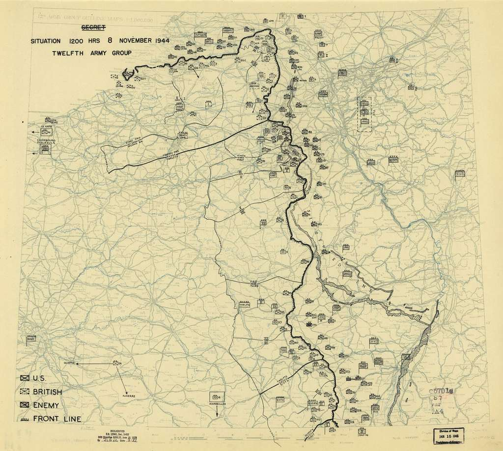 [November 8, 1944], HQ Twelfth Army Group situation map.