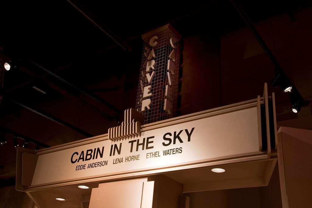 Carver Theater Marquee in exhibit at the Birmingham Civil Rights Institute, Birmingham, Alabama